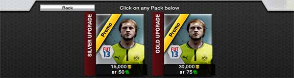 FIFA Ultimate Team Packs