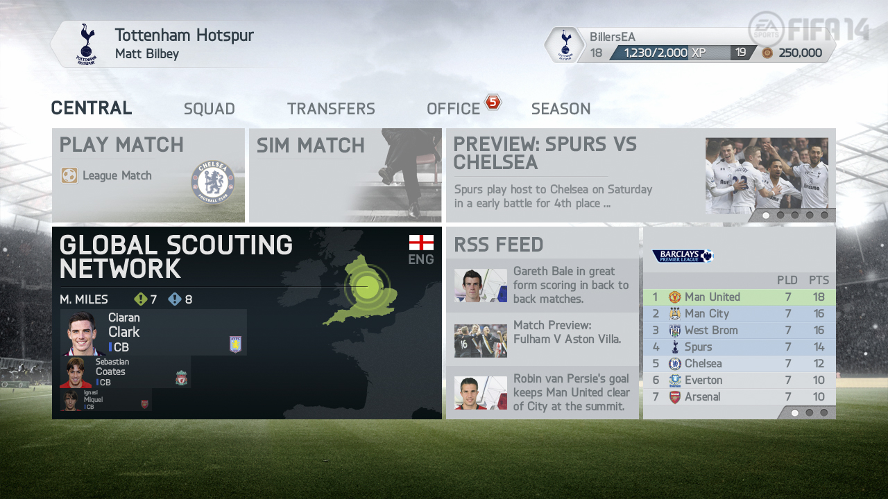 FIFA 14 Career Mode - First Impressions (include screenshots)