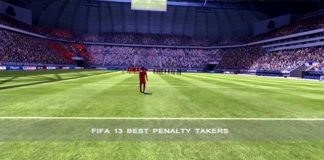 FIFA 13 Penalty Takers