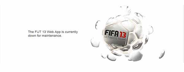 FUT 13 and EASFC Maintenances Until the FIFA 14 Release