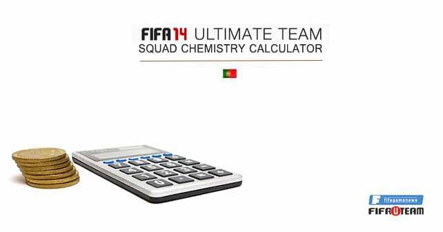 Calculadora de Química da Equipa em FIFA 14 Ultimate Team