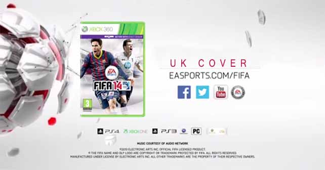 Revealed the FIFA 14 Cover for UK with Gareth Bale