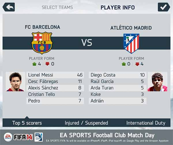 New FIFA 14 Screenshots to iPhone, iPad, iPod and Android