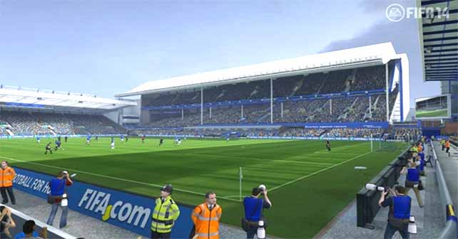 Everton Partnership with EA Sports takes Goodison Park into FIFA 14