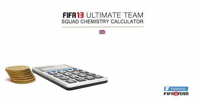 FIFA 13 Ultimate Team Squad Chemistry Calculator