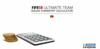 Calculadora de Química da Equipa em FIFA 13 Ultimate Team