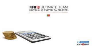 Calculadora de Química Individual em FIFA 13 Ultimate Team