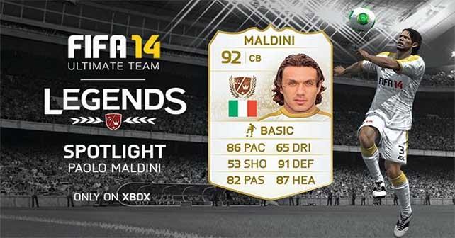 Lenda FUT 14 Paolo Maldini