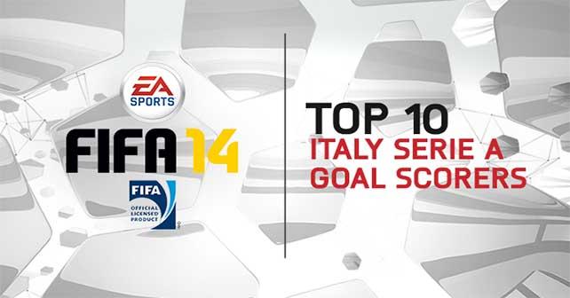 TOP 10 Serie A Goal Scorers in FIFA 14