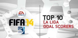 TOP 10 BBVA La Liga Goal Scorers in FIFA 14