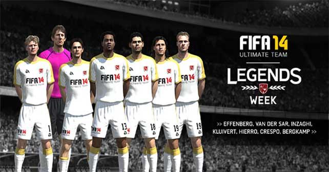 FUT 14 Legends Spotlight - Effenberg, Van Der Sar, Inzaghi, Kluivert, Hierro, Crespo and Bergkamp