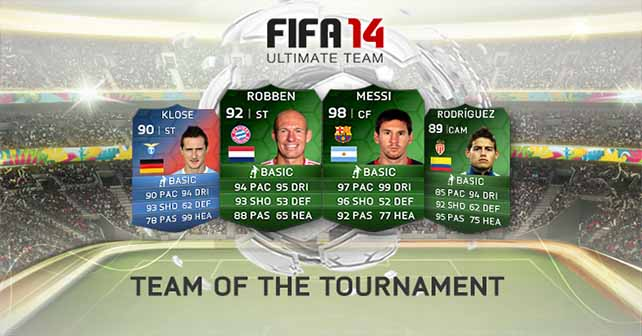FIFA 14 Ultimate Team - Team of the Tournament