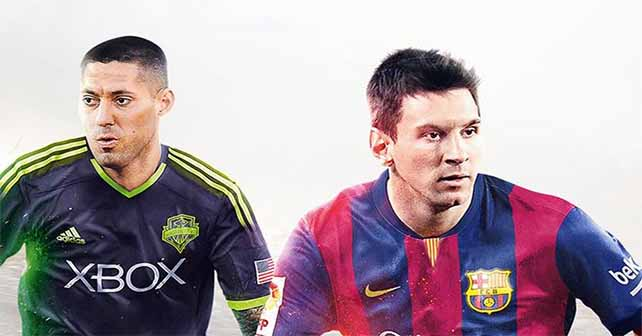 Clint Dempsey Join Messi on the FIFA 15 cover for North America
