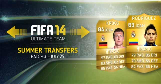 FIFA 14 Ultimate Team Summer Upgrades: Third Batch