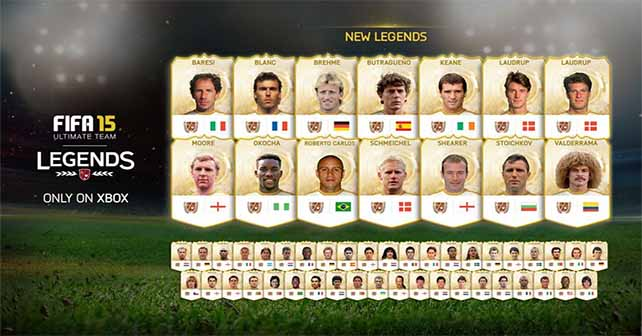 Everything about the FIFA 15 Ultimate Team Legends