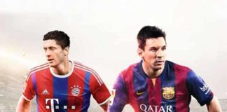 Lewandowski joins Messi on the FIFA 15 cover for Poland