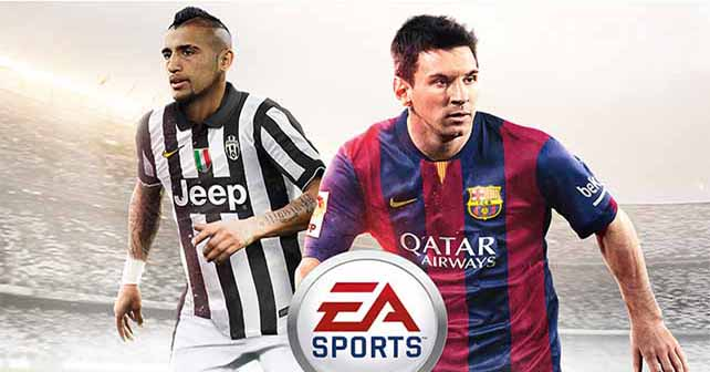 Arturo Vidal joins Messi on the FIFA 15 cover for South America