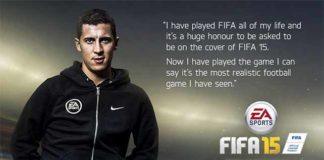 Eden Hazard joins Messi on the FIFA 15 cover for UK