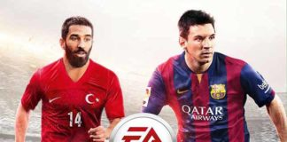 Arda Turan joins Messi on the FIFA 15 cover for Turkey