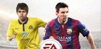 Yahya Al-Shehri joins Messi on the FIFA 15 cover for Saudi Arabia