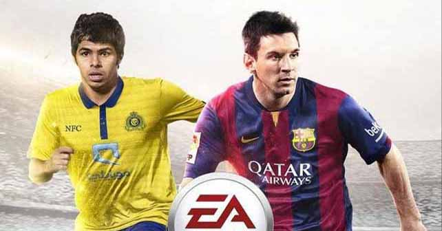 Yahya Al-Shehri joins Messi on the FIFA 15 cover for Saudi Arabia