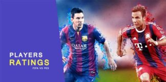 PES 2015 vs FIFA 15 Player's Ratings
