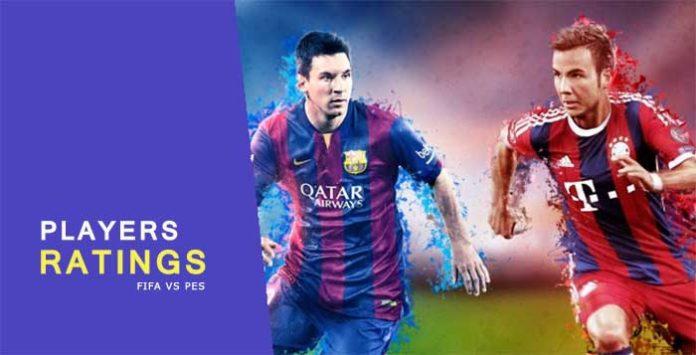 PES 2015 vs FIFA 15 Player's Ratings