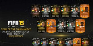 FIFA 15 Team of the Tournament Africa Cup of Nations