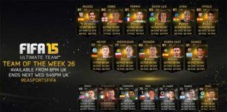 FIFA 15 Ultimate Team - TOTW 26