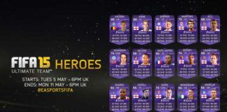 Heroes In-Forms Cards of FIFA 15 Ultimate Team - Round 1