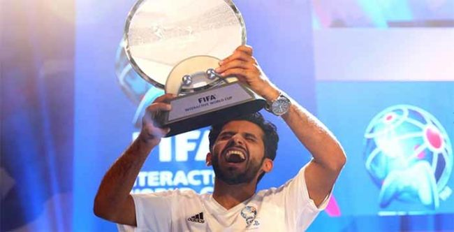 Abdulaziz Alshehri won the FIFA Interactive World Cup 2015