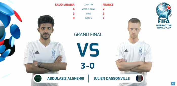 Abdulaziz Alshehri won the FIFA Interactive World Cup 2015