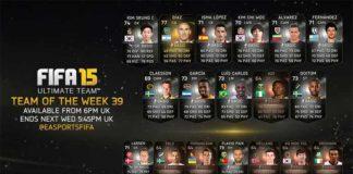 FIFA 15 Ultimate Team - TOTW 39