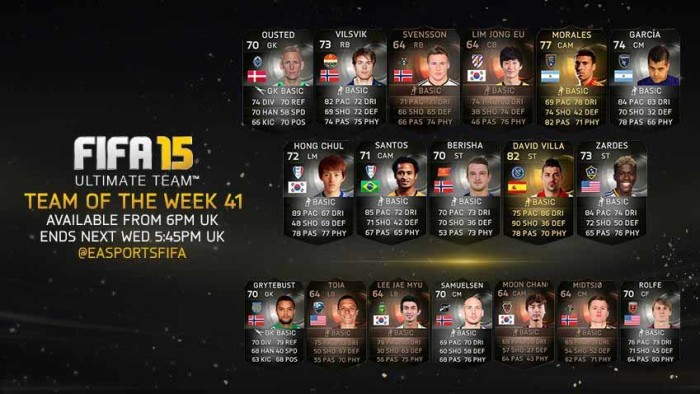 FIFA 15 Ultimate Team - TOTW 41