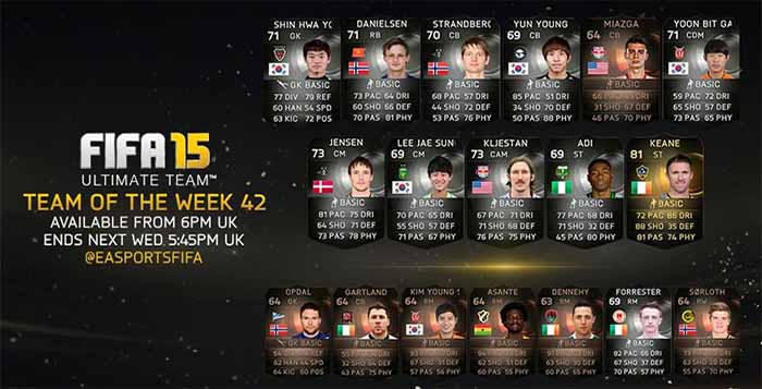 FIFA 15 Ultimate Team - TOTW 42