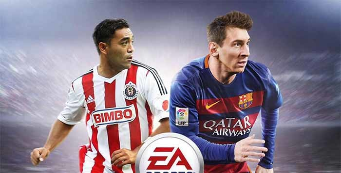 Marco Fabián joins Messi on the Mexican FIFA 16 cover