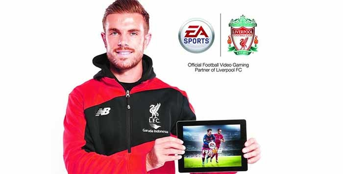 Jordan Henderson joins Messi on the FIFA 16 cover of UK & Ireland