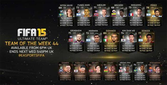 FIFA 15 Ultimate Team - TOTW 44