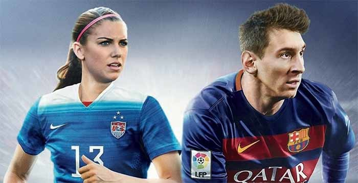 Alex Morgan joins Messi on the FIFA 16 cover of United States