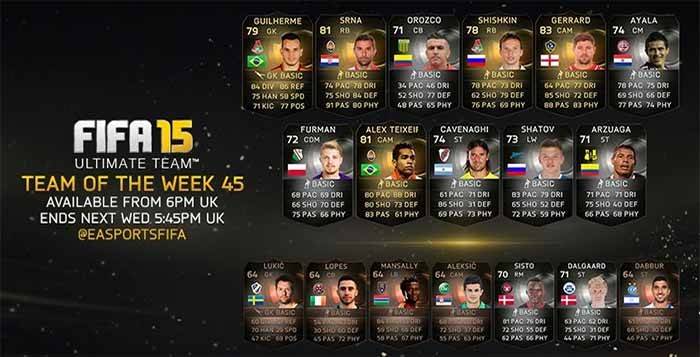 FIFA 15 Ultimate Team - TOTW 45