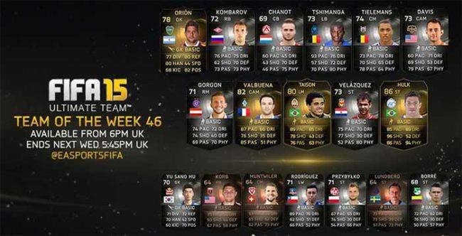 FIFA 15 Ultimate Team - TOTW 46
