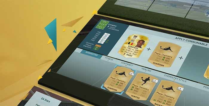 User Interface Improvements of FIFA 16 Ultimate Team