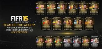 FIFA 15 Ultimate Team - TOTW 51