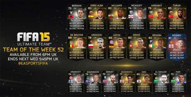 FIFA 15 Ultimate Team - TOTW 52