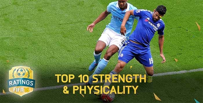 Top 10 Strength & Physicality FIFA 16 Players