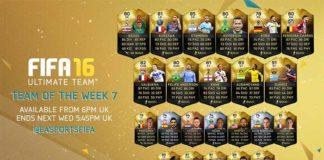 FIFA 16 Ultimate Team - TOTW 7
