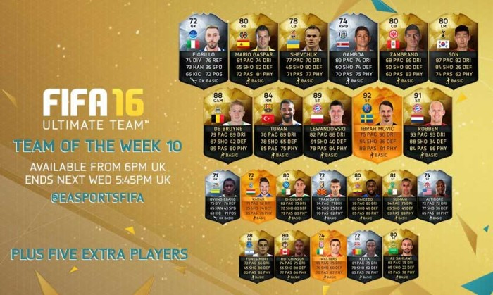 FIFA 16 Ultimate Team - TOTW 10