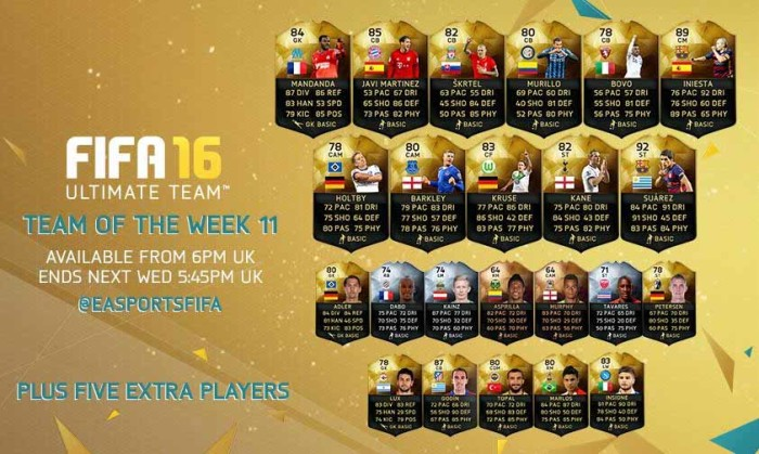 FIFA 16 Ultimate Team - TOTW 11