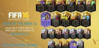 FIFA 16 Ultimate Team - TOTW 12