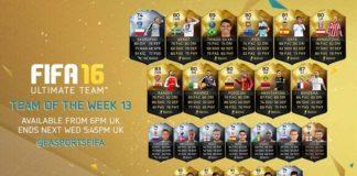 FIFA 16 Ultimate Team - TOTW 13